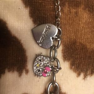 Hello kitty bling charm bracelet